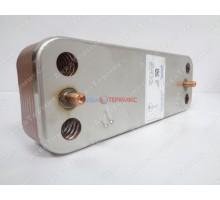 Теплообменник пластинчатый для ГВС 14 пластин Baxi (711613000) - запчасть для котла
